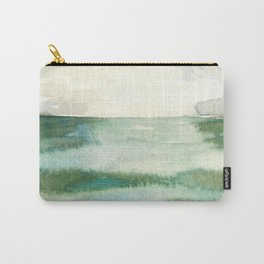 Emerald Sea Watercolor Print Carry-All Pouch