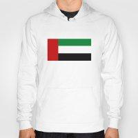 arab Hoodies featuring United Arab Emirates country flag by tony tudor