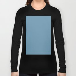 Solid Blue Long Sleeve T-shirt