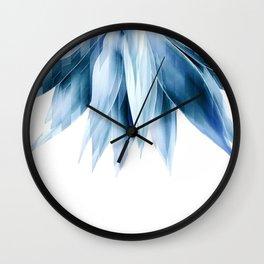 Agave geo fringe - blue Wall Clock