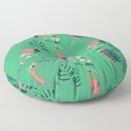 Pretty Polly green palm Floor Pillow