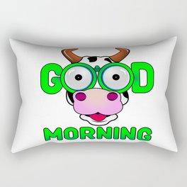 Good morning cow Rectangular Pillow