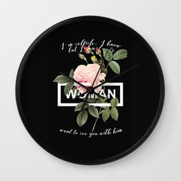 Harry Styles Woman graphic artwork Wall Clock