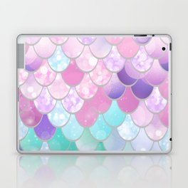Mermaid Sweet Dreams, Pastel, Pink, Purple, Teal Laptop & iPad Skin