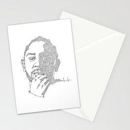 Kendrick Lamar Portrait: #blacklivesmatter Stationery Cards