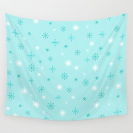 AFE Turquoise Snowflakes Wall Tapestry