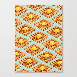 Waffle Pattern Canvas Print