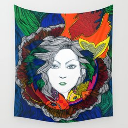 """""""Surgiendo entre peces"""" Wall Tapestry"""