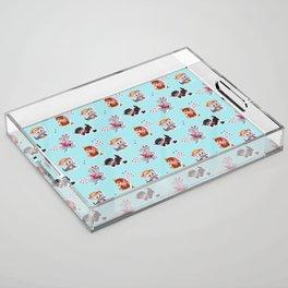 Zombie Cats Acrylic Tray