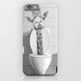 Giraffe in the Toilet iPhone Case