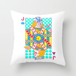 """Jack Shit """"LOST TIME"""" Throw Pillow"""