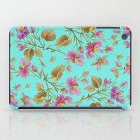 aelwen iPad Cases featuring beach roses mint by Ariadne
