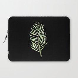 PALM ARECA - BLACK BACKGROUND Laptop Sleeve
