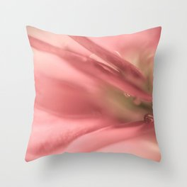 Macro Flower Photo, Water Droplet Throw Pillow