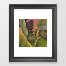 Fig Branch Framed Art Print