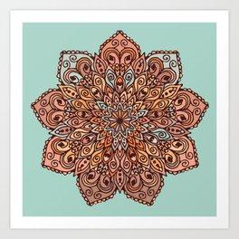 Mandala in Brown Tones Art Print