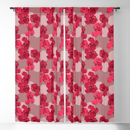 Crepe Myrtle in Scarlet Blackout Curtain
