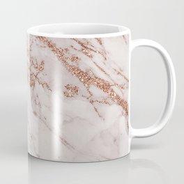 Trendy elegant rose gold glitter gray marble Coffee Mug