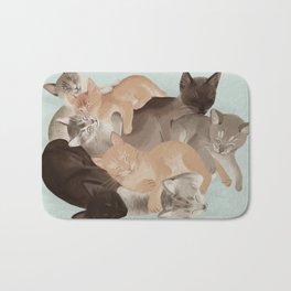 Big Ol' Pile of Cats Bath Mat