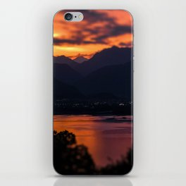 Locarno and Ascona at sunset iPhone Skin