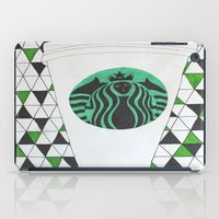 starbucks iPad Cases featuring Starbucks Mermaid  by Clawson Creatives