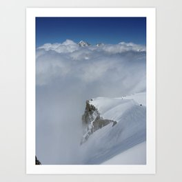 French Alps Sunshine Art Print