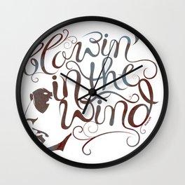 BOB DYLAN, BLOWIN' IN THE WIND Wall Clock