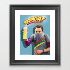 Sheldon  - BAZINGA! Framed Art Print