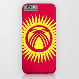 Kyrgyzstan flag emblem iPhone Case