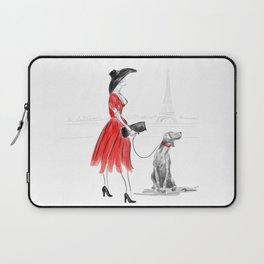 WEIMARANER IN PARIS Laptop Sleeve