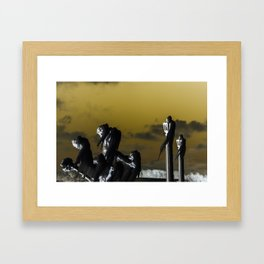 icicle lamp and tree - inverted Framed Art Print