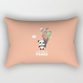 Cute like a Panda T-Shirt for all Ages D6rkb Rectangular Pillow