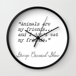 George Bernard Shaw awesome quote 9 Wall Clock