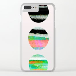 colorful circles pattern design Clear iPhone Case
