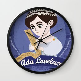 Women in science | Ada Lovelace, mathematician Wall Clock