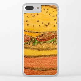 Burger with cheese Clear iPhone Case