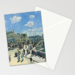 Pont Neuf Paris Painting by Auguste Renoir Stationery Cards