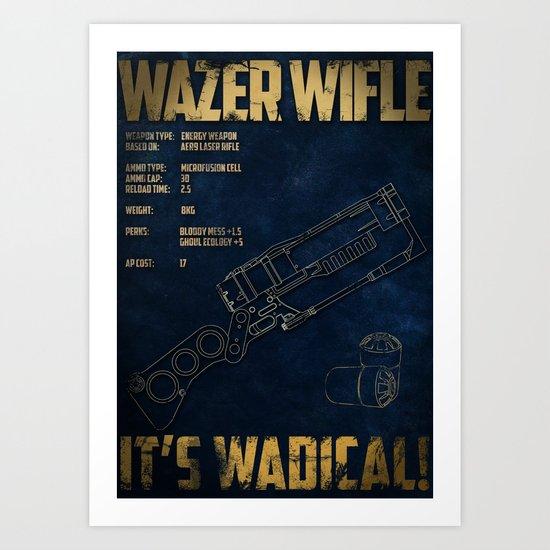 Wazer Wifle Poster Art Print
