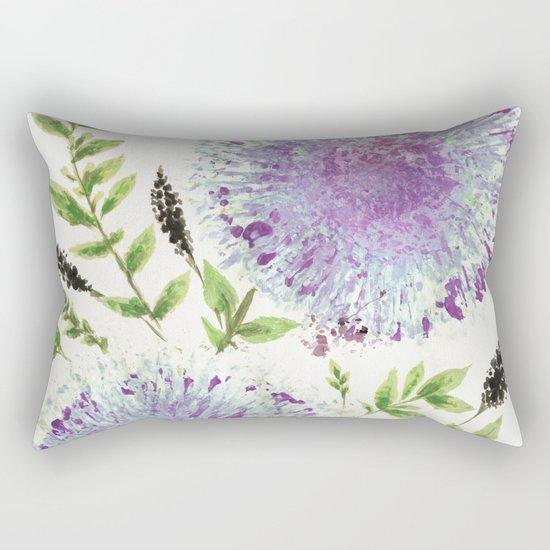 Dandelions Aquamarine Mauve Rectangular Pillow