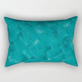 A Soothing Soft Sea Green Rectangular Pillow