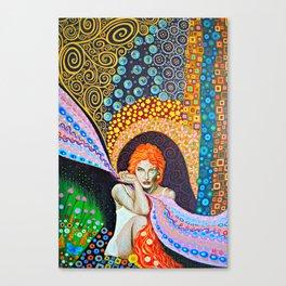 Orange Hair Canvas Print