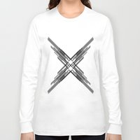 sci fi Long Sleeve T-shirts featuring Sci-Fi Shards by Alli Vanes