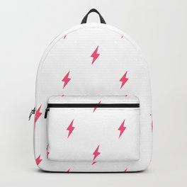 Lightning Bolt Pattern Pink Backpack