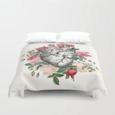 Roses for her Heart Duvet Cover