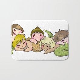 Sleepy Snake Siblings Bath Mat