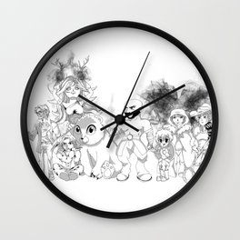 Vox Machina - Critical Role Line Art Wall Clock