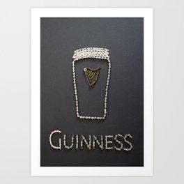 095: Guinness - 100 Hoopties Art Print