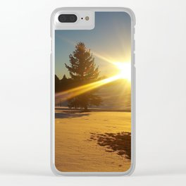 Winter Solace Clear iPhone Case