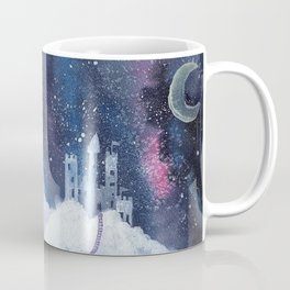 castle in the galaxy painting Coffee Mug