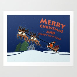 Whim Santa Christmas Day Art Print